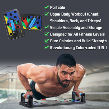 Push Up Rack Board 11-in-1 Bracket Full Body Building Fitness Exercise Push-up Stands Training System Workout Home Equipment New 3