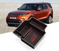 Schwarz Zentrum Speicher Box Tür Handschuh Armlehne Organizer Box Für Land Rover Discovery 5 2017 2018 2019 Auto Behälter Halter tablett