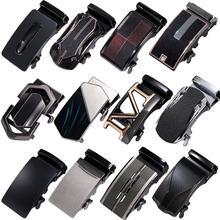 Luxury Alloy Mens Relacement Belt Buckles Button Sliding Without Belt Dress Jeans Buckle for 3.3cm to 3.5 cm Ratchet Belts Strap