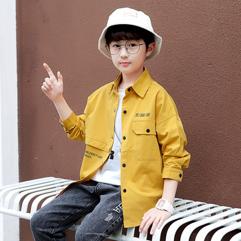 Boys Casual Patchwork Shirts