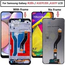 Do Samsung galaxy A10s lcd Digitizer A107/DS A107F A107FD A107M wyświetlacz z ramką ekran dotykowy Digitizer do Samsung A10S lcd