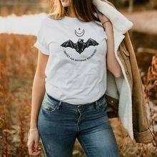 Les femmes protègent nos pollinisateurs nocturnes doux décontracté lettre haut col rond graphiques blanc à manches courtes T-Shirt d'été