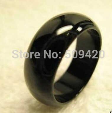 จัดส่งฟรี >>> Cool สีดำธรรมชาติหยก ONYX แหวน