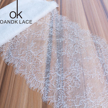 3Meter Eyelash White Lace Trim Mesh Lace Ribbon Decoration Crafts Sewing Lace For Wedding Making Decoration