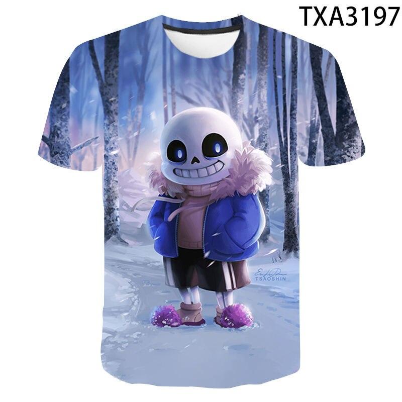 Fashion New 2021 Summer 3D Printing Monster Little Boy Men's And Women's Short Sleeve T-Shirt