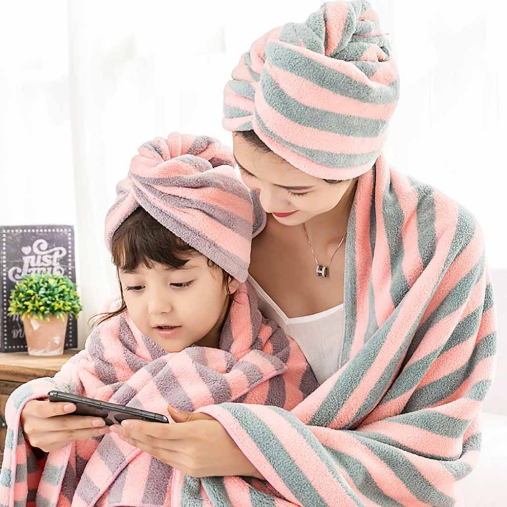 Microfiber Hair Quickly Dry Hair Hat Wrapped Towel Bathing Cap 25 x 63cm #4c09 (3)