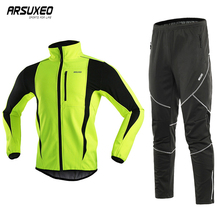 Suits Sportswear Trousers ARSUXEO Clothing Cycling-Jacket-Set Bicycle-Pants Bike Waterproof