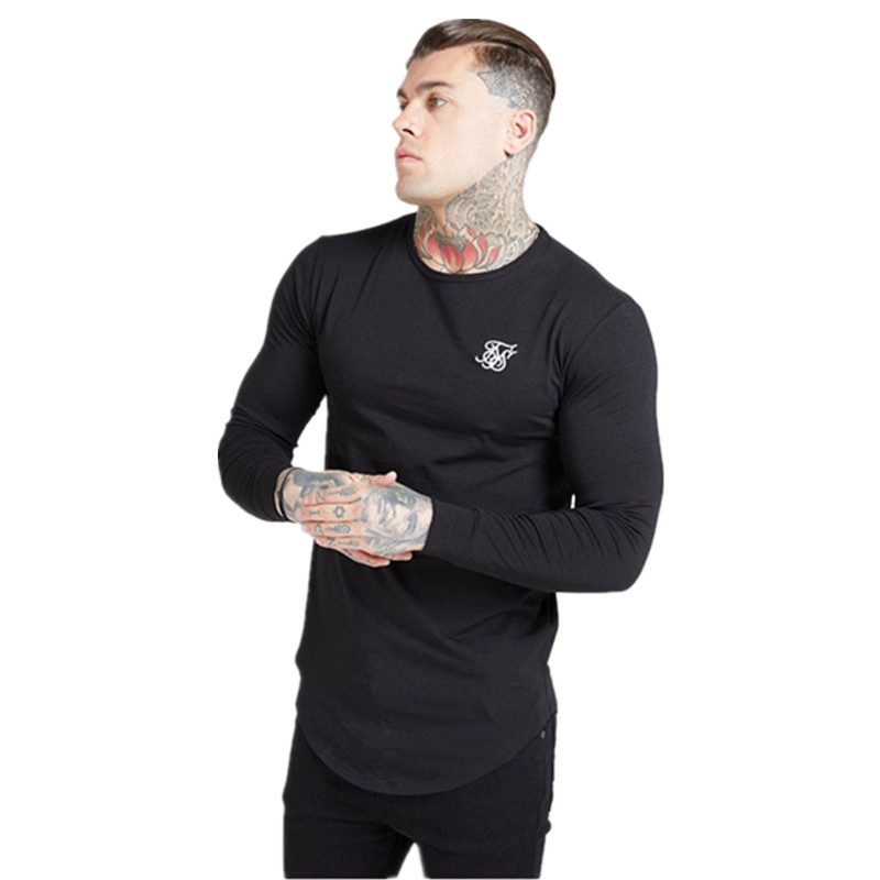 Sik Silk T Shirts Men Siksilk Long Sleeve T Shirt Men Autumn Sweatshirts Hip Hop Streetwear Sik Tshirt Silk Silk Sweatshirt