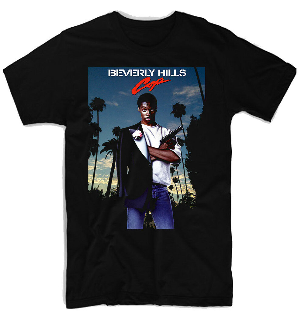 Beverly Hills Cop Movie Poster 100% Cotton Men'S T-Shirt E0023 Street Wear Fashion Tee Shirt image