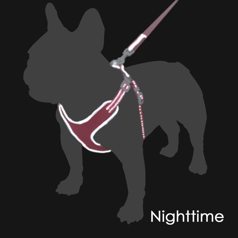 通気性の犬用ハーネス夏リーシュなしプルハーネス小/中型犬子犬反射夜間ペット製品
