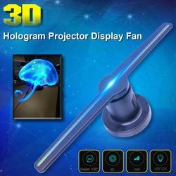 Wifi 3D Hologram Projector Fan met 16G TF Holografische Display 224 LEDs Party Decoraties Hologrammen Led 42cm Winkel borden Grappig