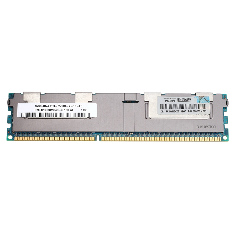 16GB PC3-8500R <font><b>DDR3</b></font> <font><b>1066Mhz</b></font> CL7 240Pin ECC REG Memory RAM 1.5V 4RX4 RDIMM RAM for Server Workstation image