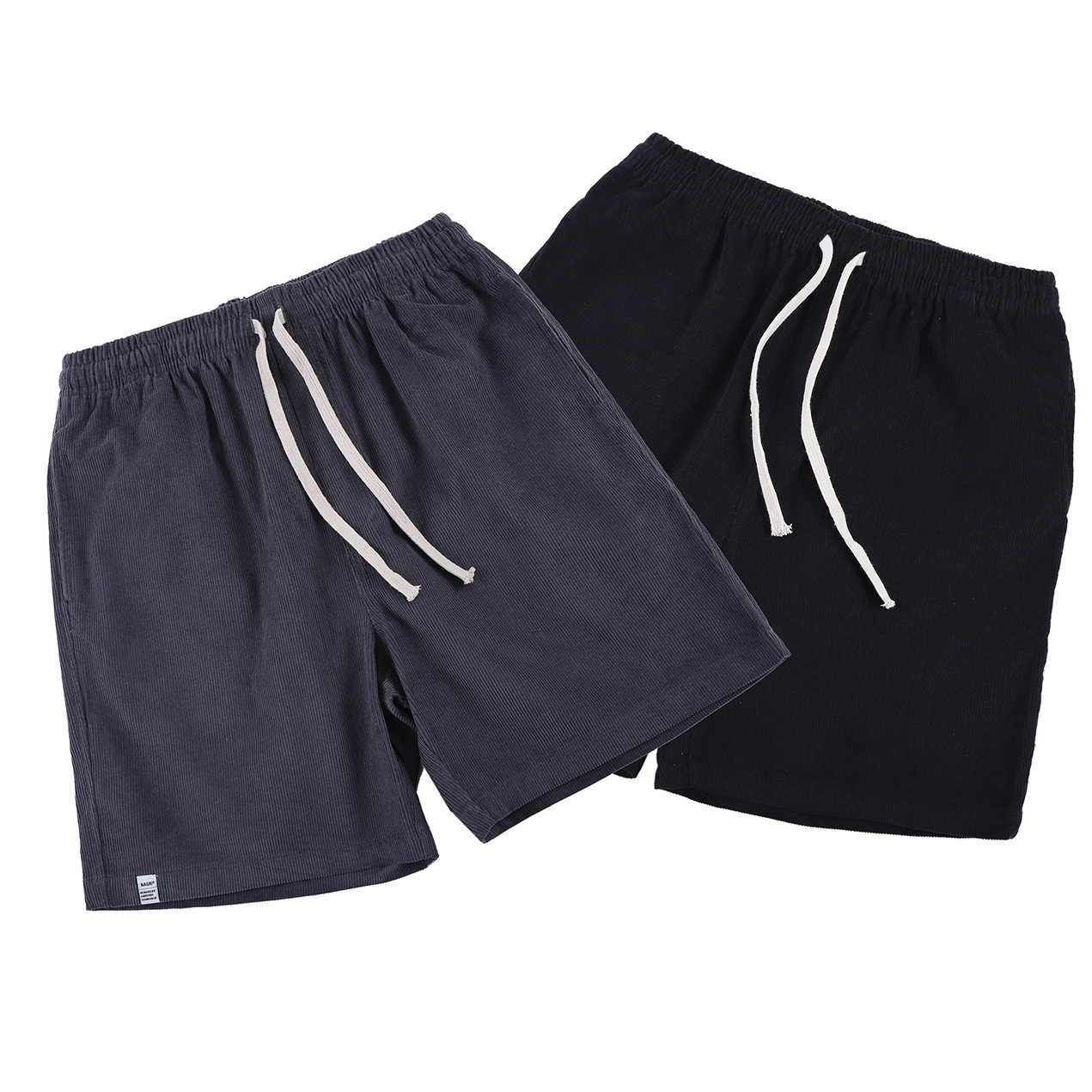 2019 Europe And America Popular Brand Summer New Style Striped Cotton Shorts Men's Large Size Solid Color Loose Casual Trend Sho