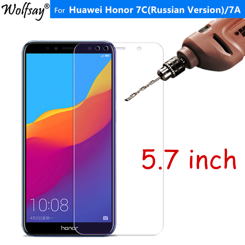 Protective Glass For Huawei Honor 7C Tempered Glass Honor 7C Russian Version AUM L41 Screen Protector For Huawei Honor 7C Glass-in Phone Screen Protectors from Cellphones & Telecommunications