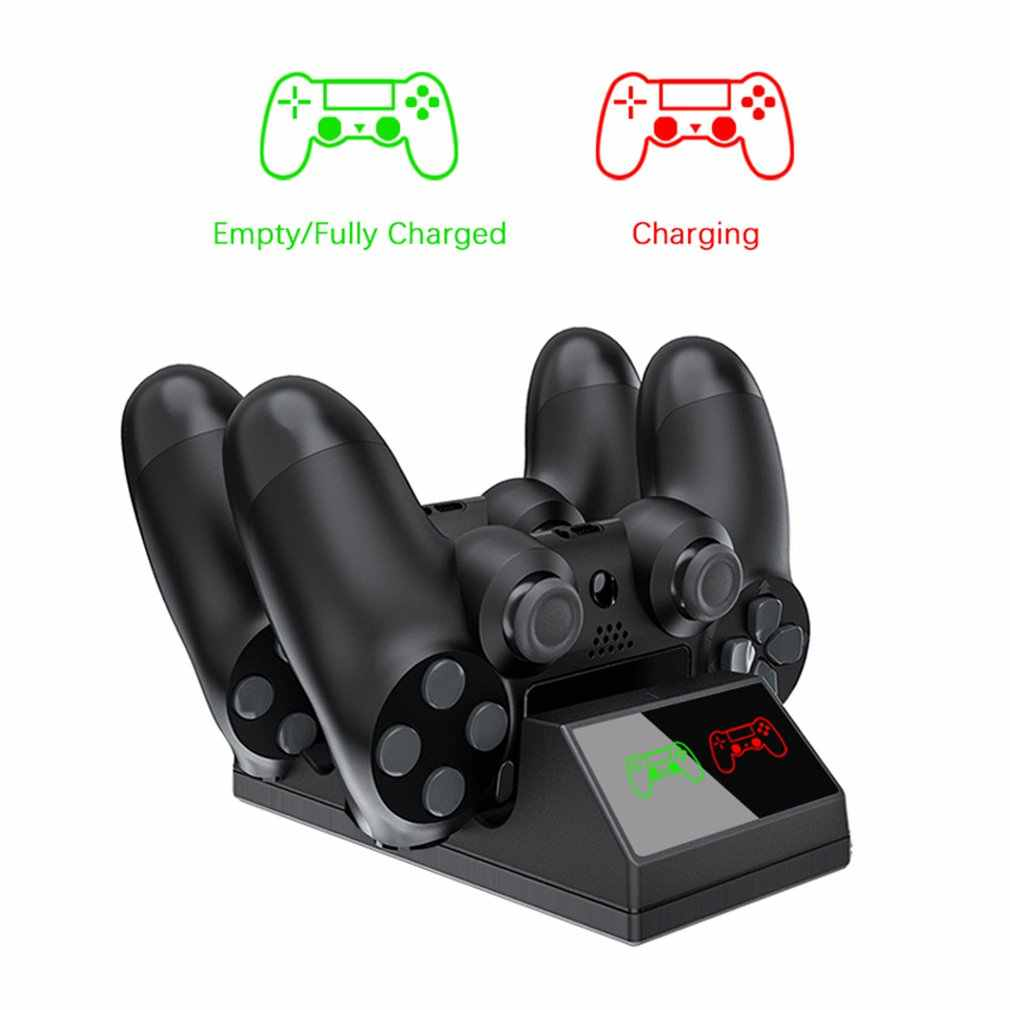 PS4 Controller Charger PS4 USB Pengisian Dock Station Stasiun Pengisian untuk Sony PlayStation 4/PS4 Pro Controller