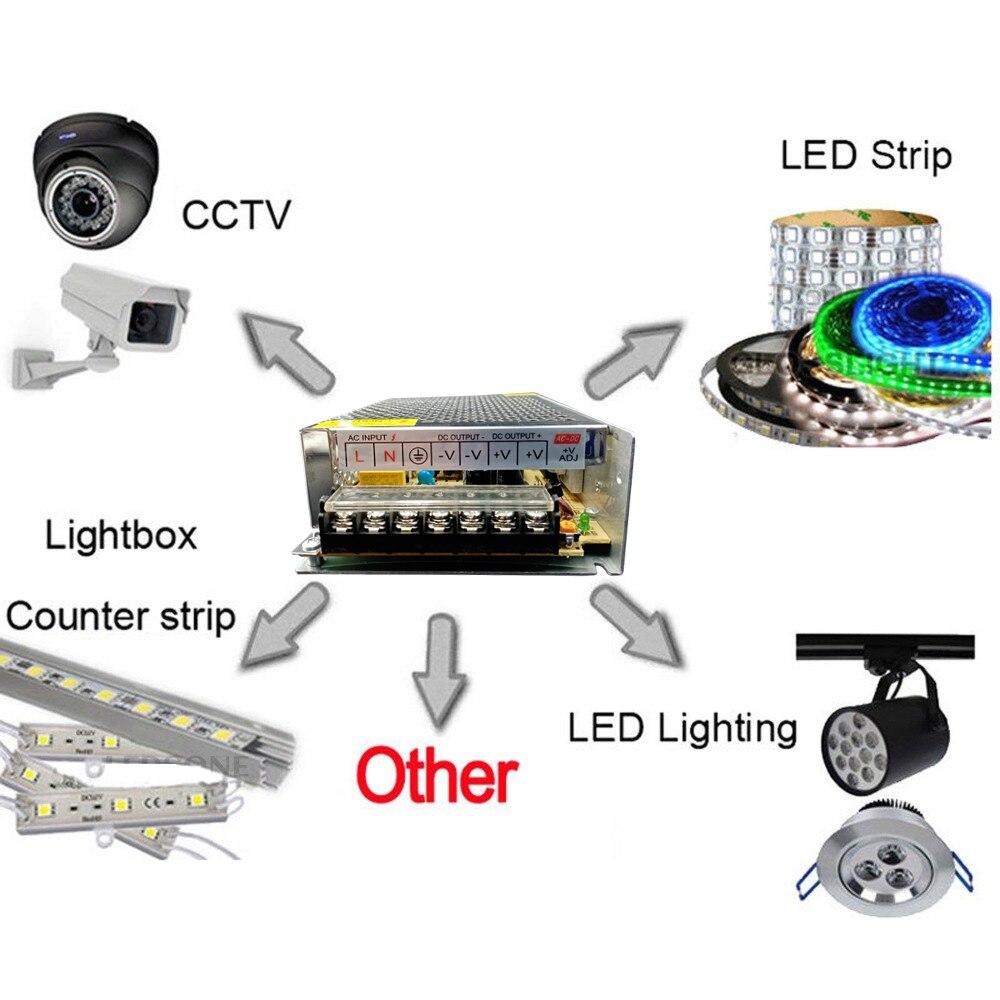 Image 5 - Lighting Transformers DC 5V 12V 24V 36V Power Supply Adapter 5 12 24 36 V VOlt Power Supply 1A 2A 3A 5A 6A 8A 10A 15A 20A 30A-in Lighting Transformers from Lights & Lighting
