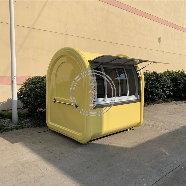 China Innovation New Outdoor With 4 Wheels Mini Mobile Food Truck Kiosk Food Cart Trailer