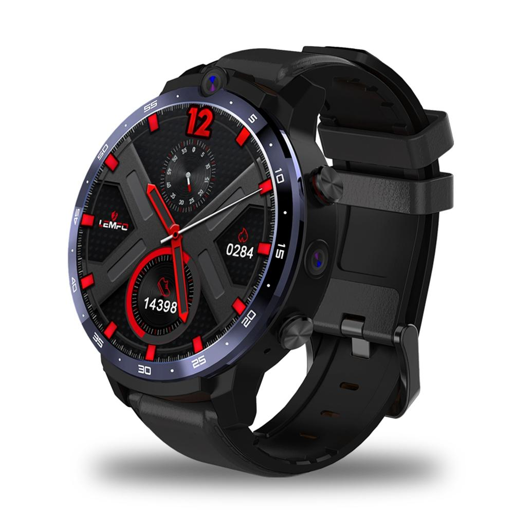 LEMFO LEM12 LTE 4G Smart Watch Dual Camera Support Face ID SIM Card WIFI GPS 3GB 32GB Men Watch Andorid 7.1 900mah Battery