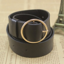 Casual Women Belt Solid Round Shape Buckle Waist Belts For Women Casual Leather Belt Simple Women Strap Brand Classic Belt все цены