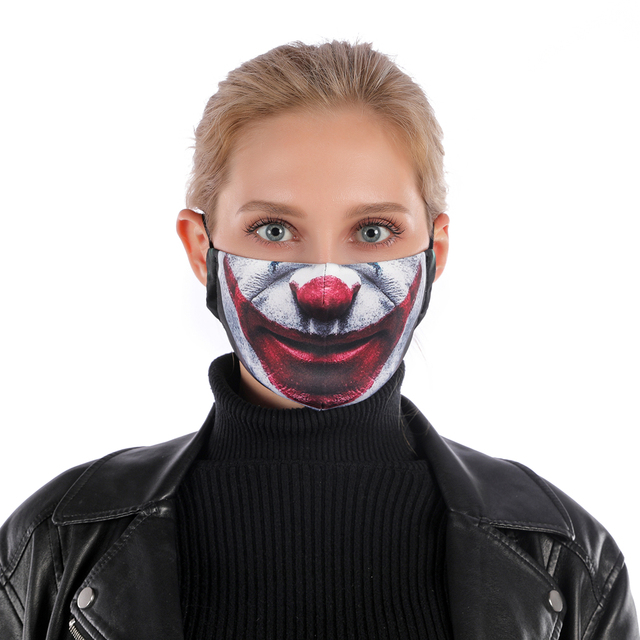 Fashion Reusable Protective PM2.5 Filter Printing mouth Mask anti dust Face mask Windproof Mouth-muffle bacteria proof Flu Mask 1