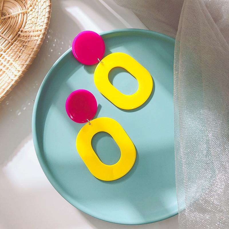 New Chao Korean Acetate Acrylic Earrings, Cross-border Popular Jewelry Earrings, Simple Fashion Girls Earrings