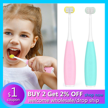 Electric-Toothbrush Sonic Three-Side-Cleaner Oral-Cleaning U-Shaped Rechargeable Kids