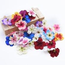 Недорогие искусственные цветы, Орхидея для дома, фотопомпоны, венок «сделай сам», шитые шелковые вишневые розы, 20 шт.
