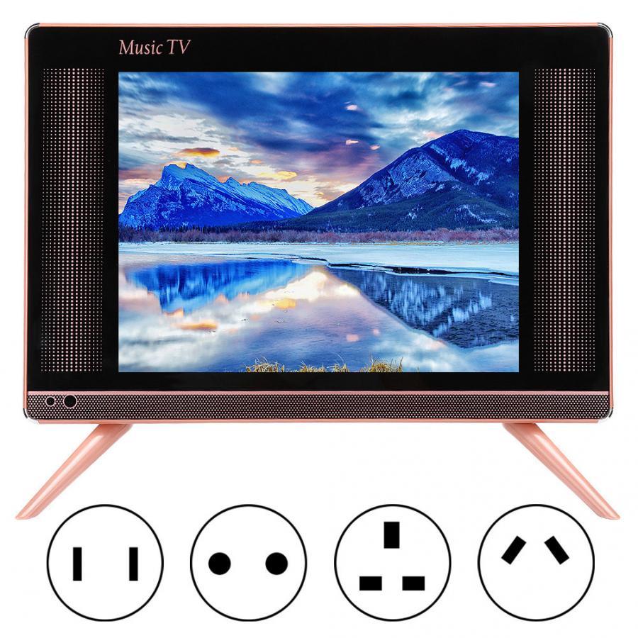 Abd/ab/UA/İngiltere tak 17 inç yüksek çözünürlüklü LCD TV taşınabilir Mini televizyon bas ses kalitesi ile 110-240V