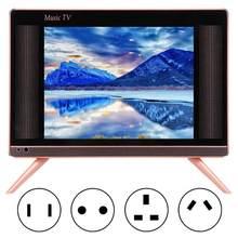 Eua/ue/ua/uk plug 17 polegada alta definição tv lcd portátil mini televisão com qualidade de som baixo 110-240 v