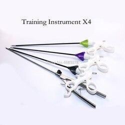 En forma de V laparoscópica de simulación capacitación instrumentos sostenedor de la aguja fórceps práctica de cirugía herramienta equipo educativo