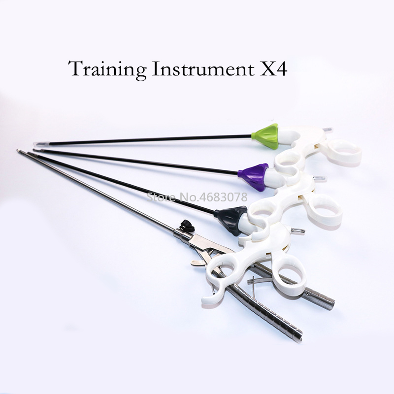 Instrumentos de treinamento de simulação laparoscópica em forma de v suporte de agulha pinça ferramenta de prática de cirurgia equipamento educacional