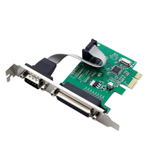 цена на RS232 RS-232 Serial Port COM & DB25 Printer Parallel Port LPT to PCI-E PCI Express Card Adapter Converter WCH382L Chip