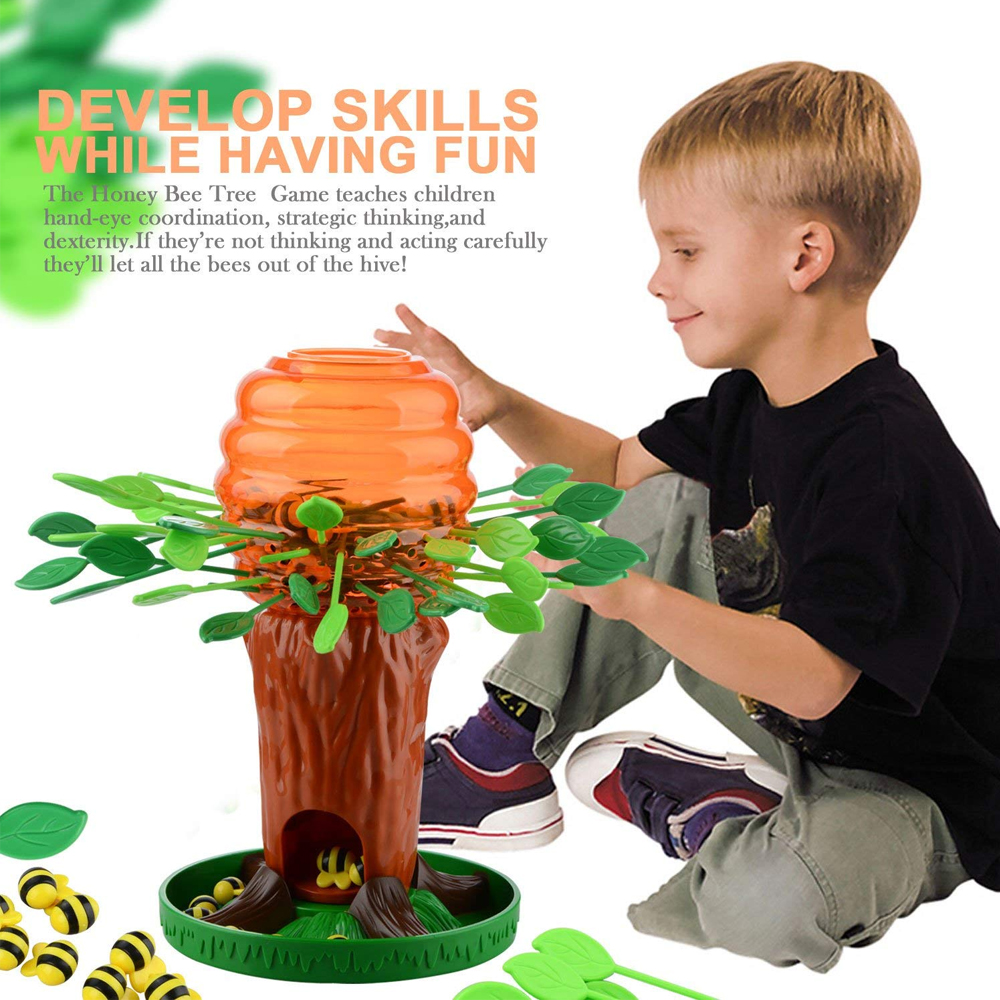 Boy Game Toy Funny Little Bee Tree Interactive Board Game Children Thinking Training Desktop Family Party Game Toy