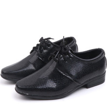 Brand Boys Shoes Leather Slip-on Baby Kids Boys Shoes Black