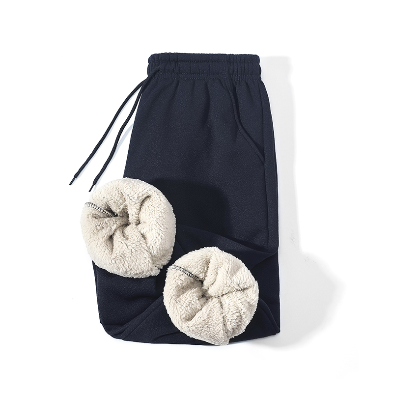 Sportwear Thicken Sweatpants Men Outside Winter Joggers Male Warm Straight Mens Fleece Pants Heavyweight Trousers M-5XL,ZA309