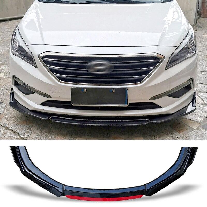 Спойлер для переднего бампера, углеродная защитная пластина для поверхности, комплект для кузова губ, лопатка для подбородка для Hyundai Sonata 2015...