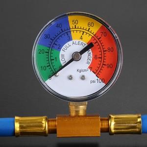 "Image 2 - Air Pressure Gauge R134A Refrigerant Recharge Hose 1/2"" Can Tap Car Air Conditioning Pressure Gauge Refrigerant charging 382mm"