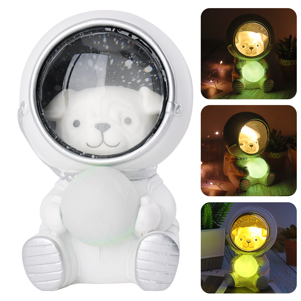 Cute Cat Dog LED Night Light Astronaut Moon Lamp Decor Bedroom Baby Room Bedside Lamp Birthday Christmas Gifts for Kids Children-in Night Lights from Lights & Lighting