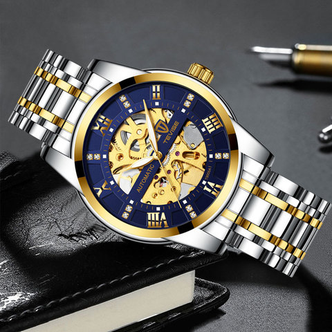 Top Brand Luxury TEVISE Mens Self Wind Wristwatch Man Mechanical Watches Automatic Watch Fashion Male Clock Relogio Masculino Multan