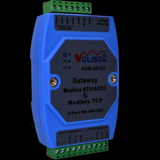 ADM-5832G Professional MODBUS Gateway Industrial Level 2 Port Rs485/422 Modbus RTU To Modbus TCP