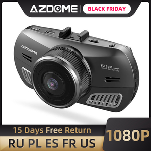 Image 1 - מקורי AZDOME M11 מצלמת מקף 1080P DVR רכב מצלמה מיני Dashcam עדשה כפולה ראיית לילה תמיכת Gps 24h חניה צג
