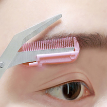Eyebrow-Trimmer-Scissor Shaver Comb Cosmetic Makeup-Accessories Facial-Hair-Removal Grooming-Shaping