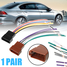 12V 16CM Universal Car Stereo Female Socket Radio ISO Wire Harness Adapter Connector FOR Electronics Accessories