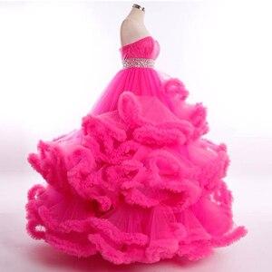 Image 4 - J6662 Jancember מרובה צבע שמלת ערב 2020 sashes מתוקה עם שרוולים קריסטל לפרוע תחרה עד בחזרה