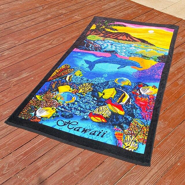 New Zealand island Style Cotton Beach Towel, Big Size Bath Towel,Water Absorption Beach towels, Bathroom Travel Towels 180x105cm 4