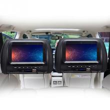 7 дюймов TFT LED экран автомобильные мониторы MP5 плеер подголовник монитор Поддержка AV/USB/мультимедиа/FM/динамик/автомобильный DVD дисплей видео 720P