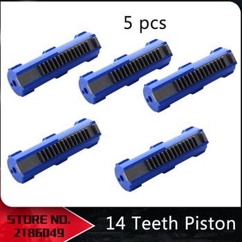Gorąca sprzedaż SHS niebieskie włókno wzmocnione pełna stal 14 zębów tłok dla Airsoft M4 AK G36 MP5 skrzynia biegów Ver 2 3 AEG akcesoria do pistoletu tanie i dobre opinie blue SINAIRSOFT Airsoft M4 AK G36 MP5 Gearbox Ver 2 3 AEG Gun Piston plastic hunting Accessories