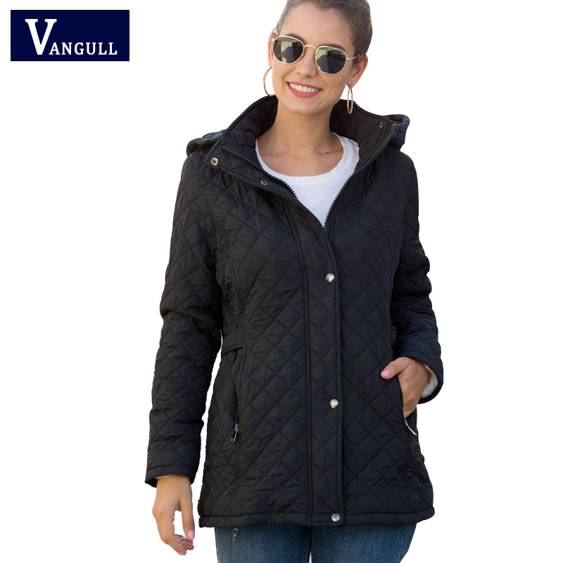 Vangull Winter Cotton Long   Parkas   Basic Jackets Female Women Winter Plus Velvet Lamb Hooded Coats Autumn 2019 New Jacket Outwear