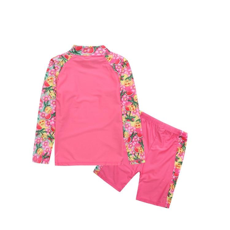 KID'S Swimwear 2-12-Year-Old Girls Long Sleeve Shorts Split Type Surf Wear Sun-resistant Tour Bathing Suit
