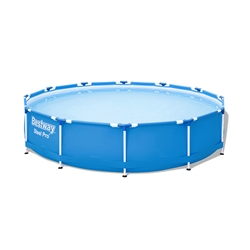 Каркасный круглый бассейн Bestway, размер 366 х 76 см, дачный бассейн, летний, для дачи, лета, отдыха, арт. 56706
